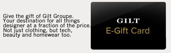Gilt Group Gift Card   Unique Gift Card Ideas