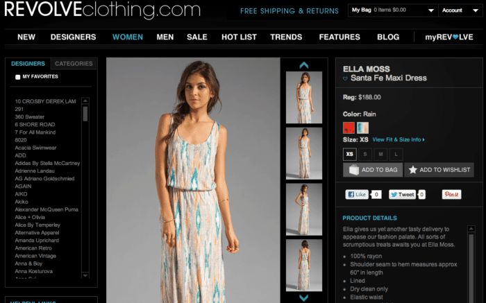 ELLA MOSS Santa Fe Maxi Dress in Rain at Revolve Clothing   Free Shipping