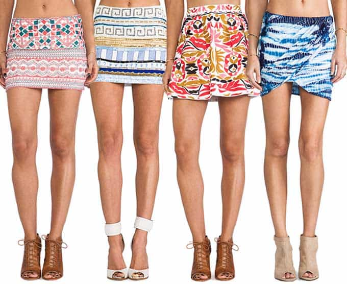 Colorful Mini Skirts |Blue Mountain Belle