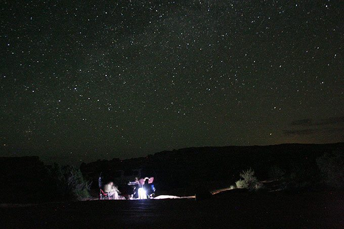 Moab Night Photography   Blue Mountain Belle