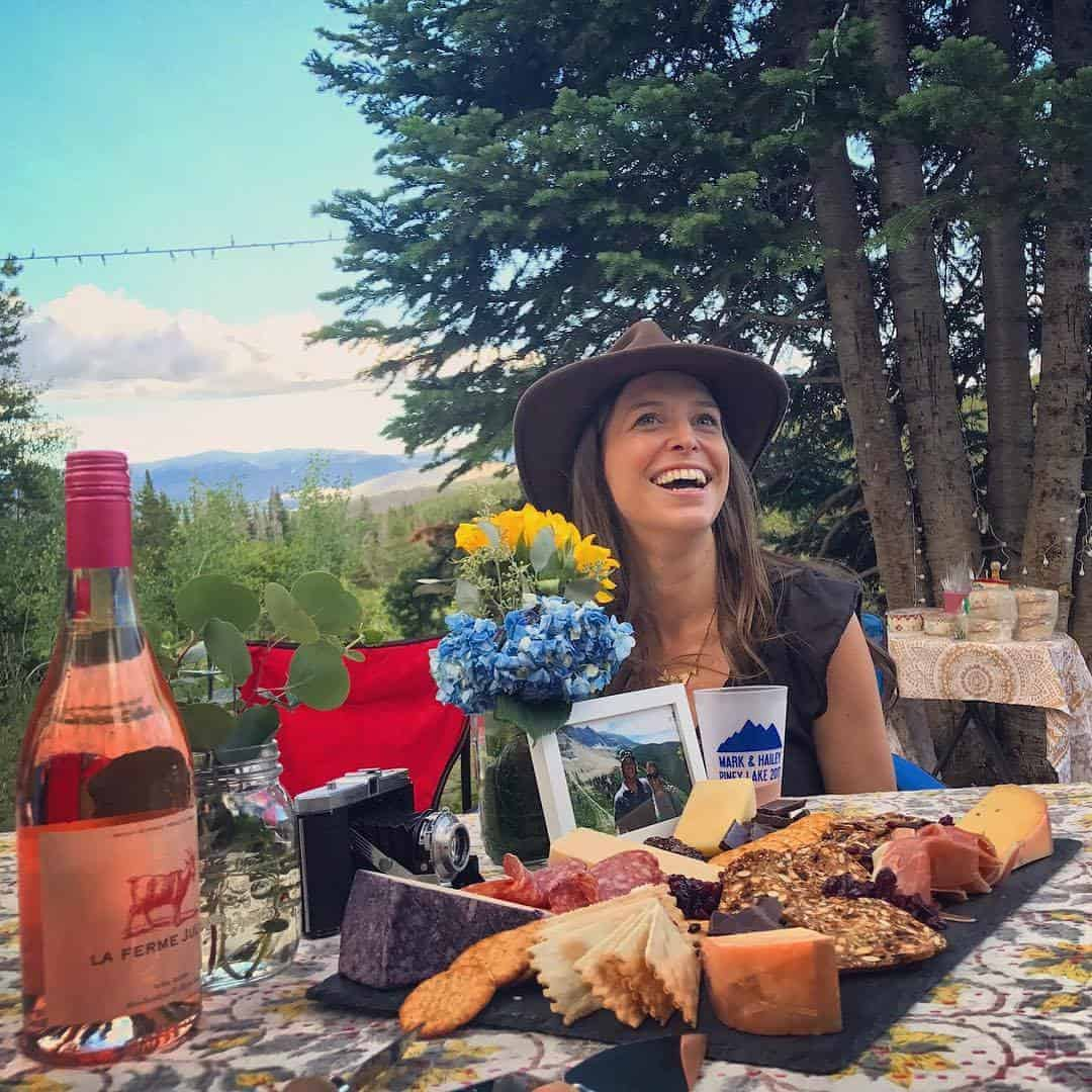Cheese plate camping