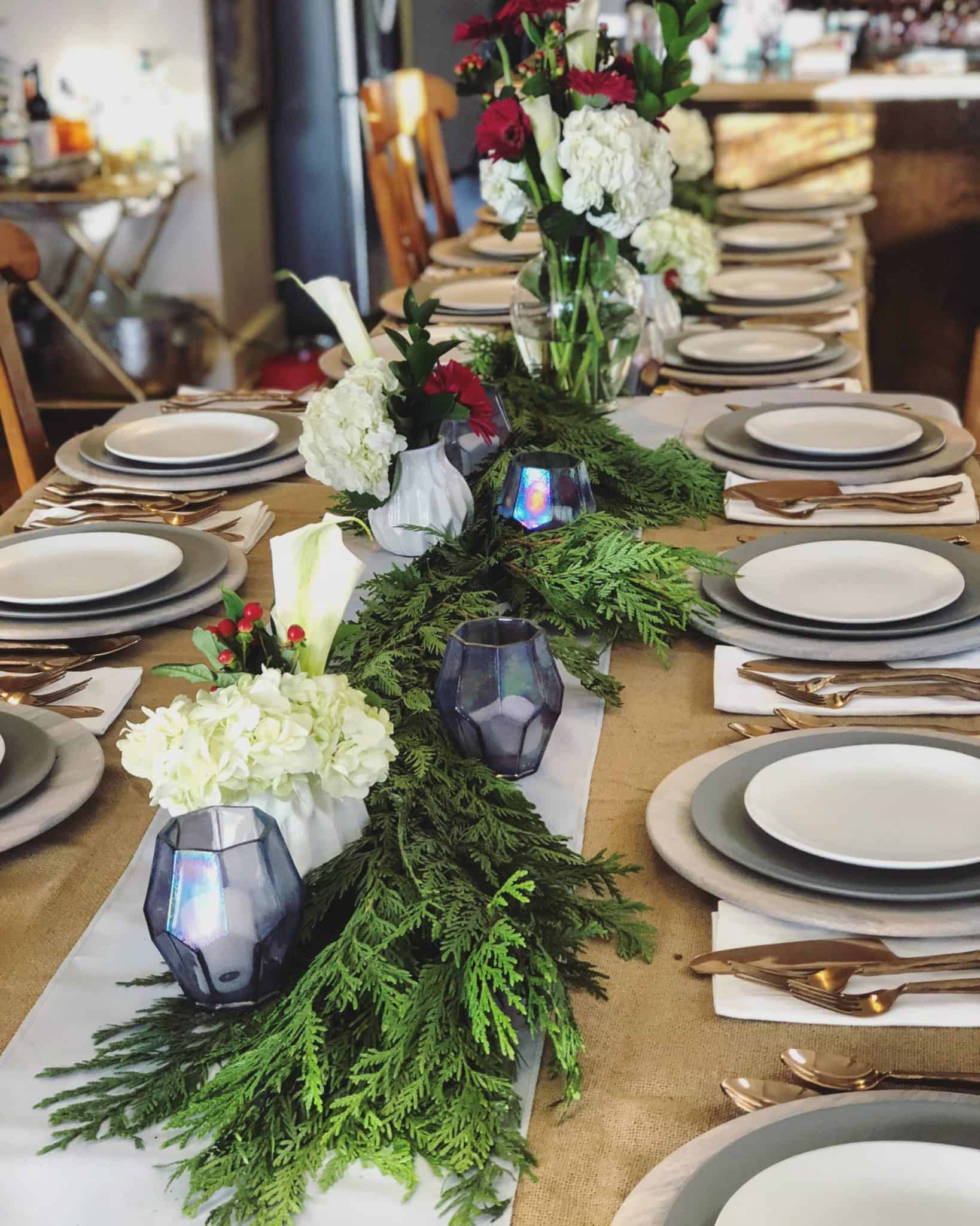 Cloth + Gold - Rental Tablescapes in Colorado. Friendsgiving tablescape