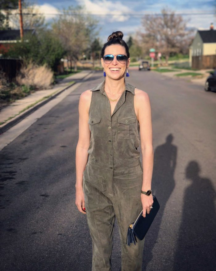 Green Army Backeless Jumpsuit from Tobi | Blue Mountain Belle