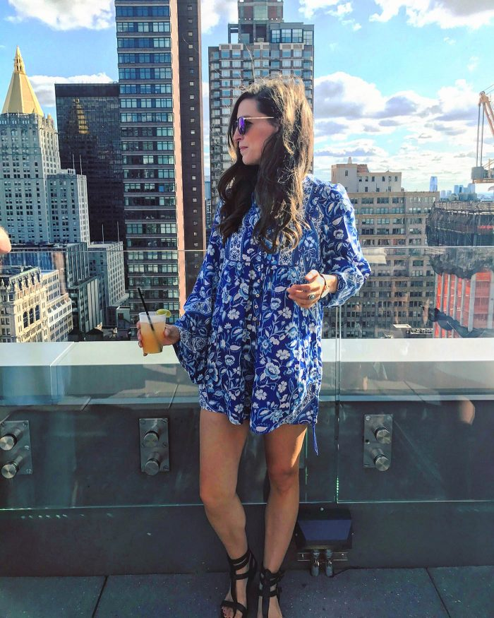 Spell & The Gypsy Collective Lionheart Romper on Channing of Blue Mountain Belle. Super flowy and comfortable romper for summer