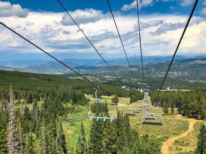 Breckenridge, Colorado from the Colorado SuperChair in Summer