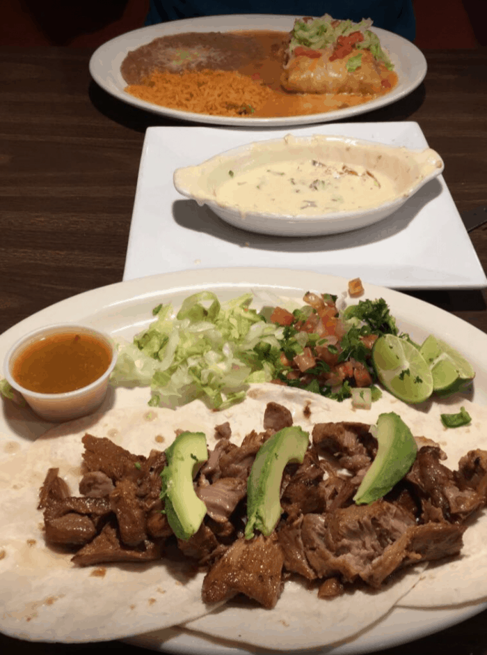 Los Portales Mexican Restaurant White Queseo Denver