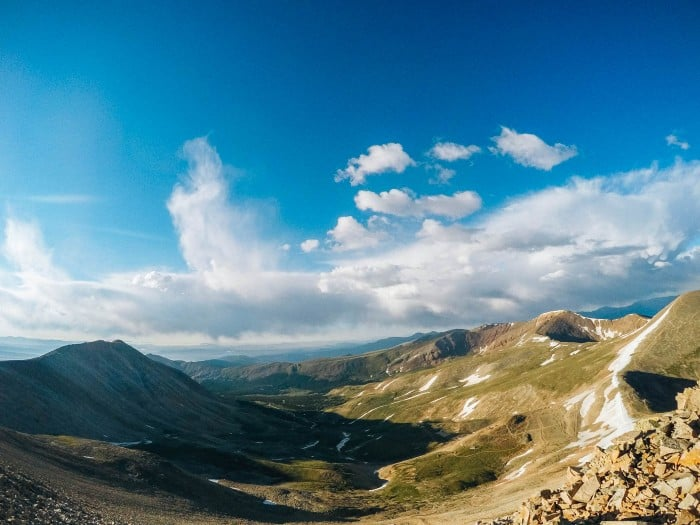 Hiking 14er Mt. Sherman in Colorado