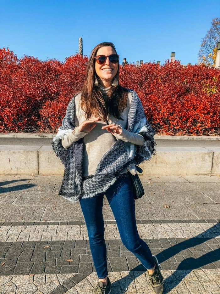 The Best Blanket Scarf on Amazon - Blue Mountain Belle in Oslo Norway