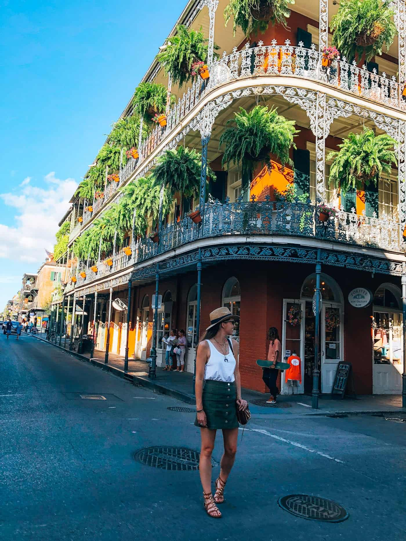 Green Skirt in New Orleans
