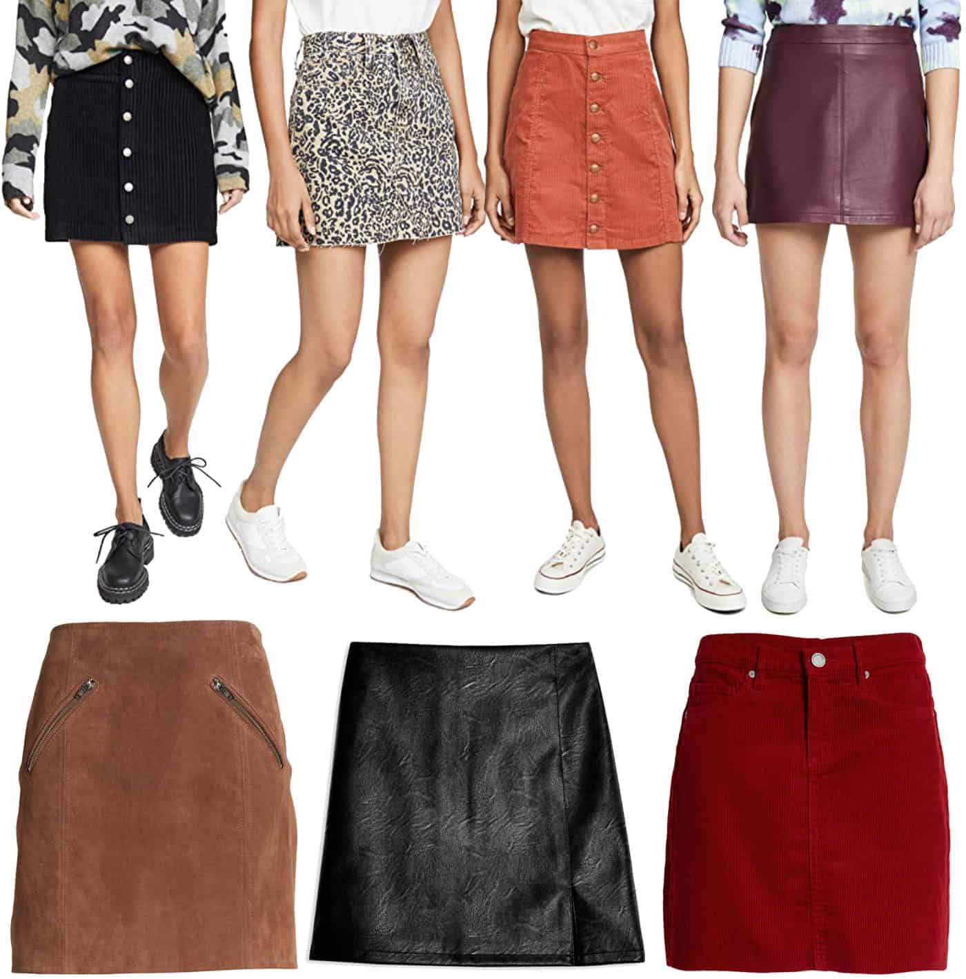 Fall Mini Skirt Trend