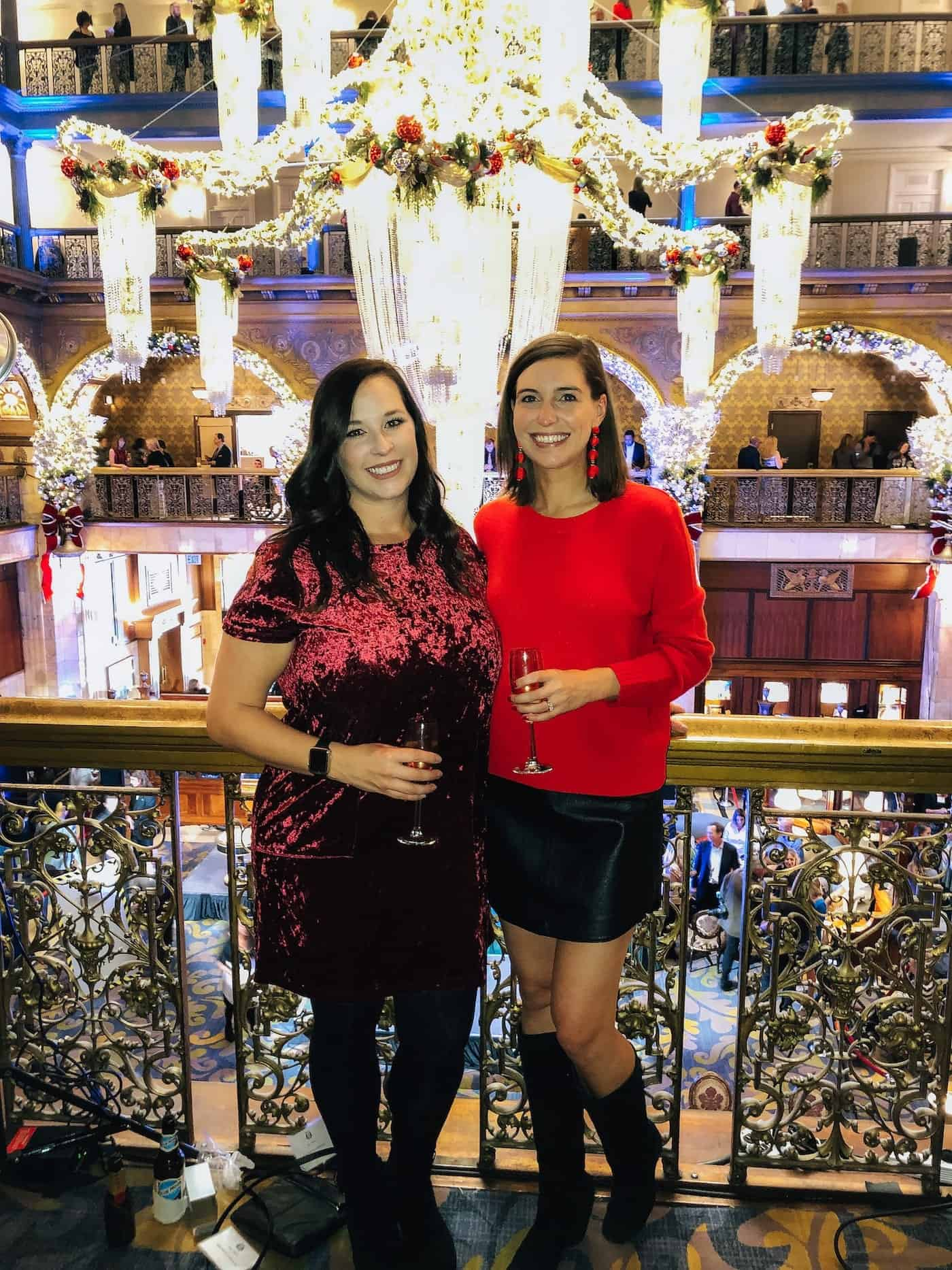 Holiday Look from Brown Palace Champagne Chandelier