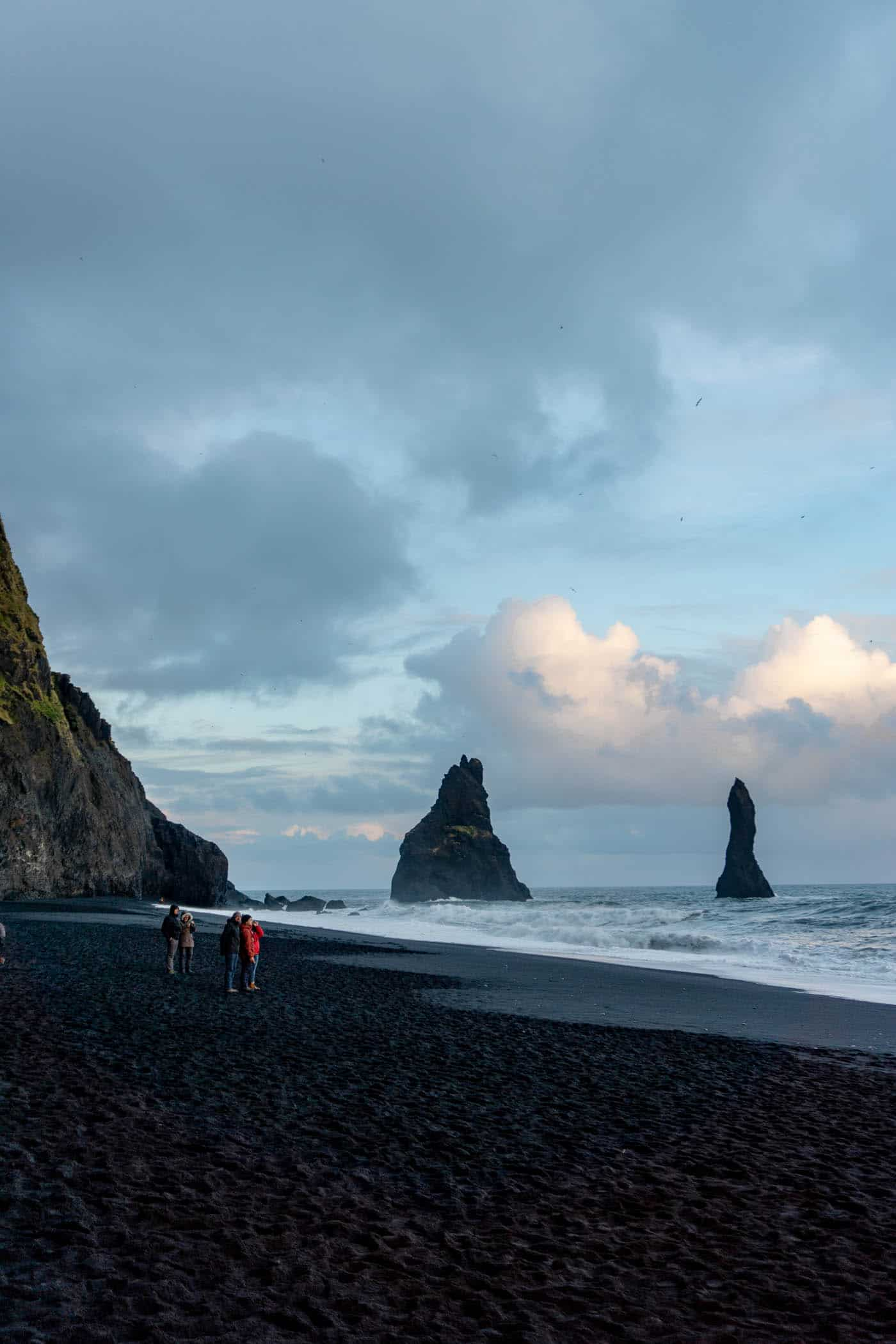 Crying at Reynisfjara, Black Sand Beach, Iceland