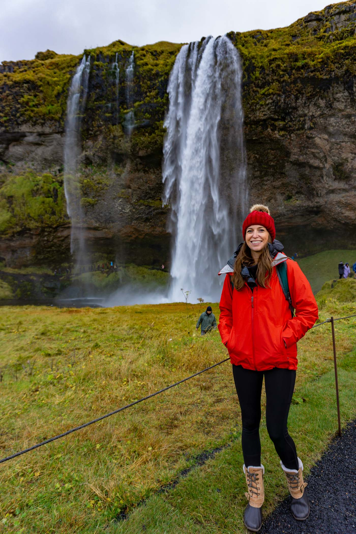Blue Mountain Belle at Seljalandsfoss waterfall in Iceland