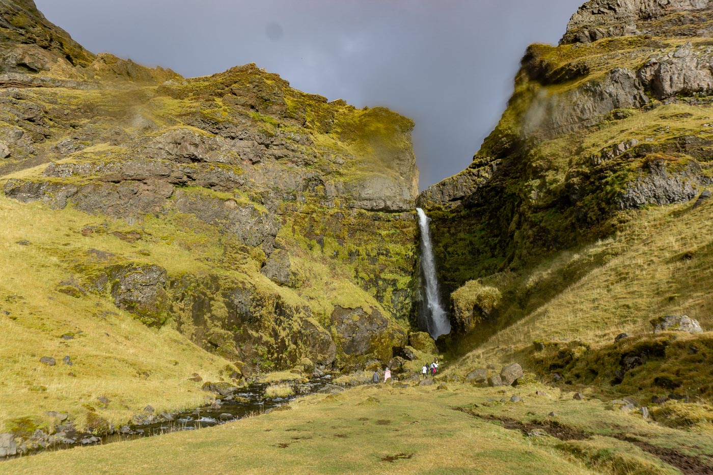 Irafoss, a private waterfall on the south coast of Iceland only accessible by NiceTravel