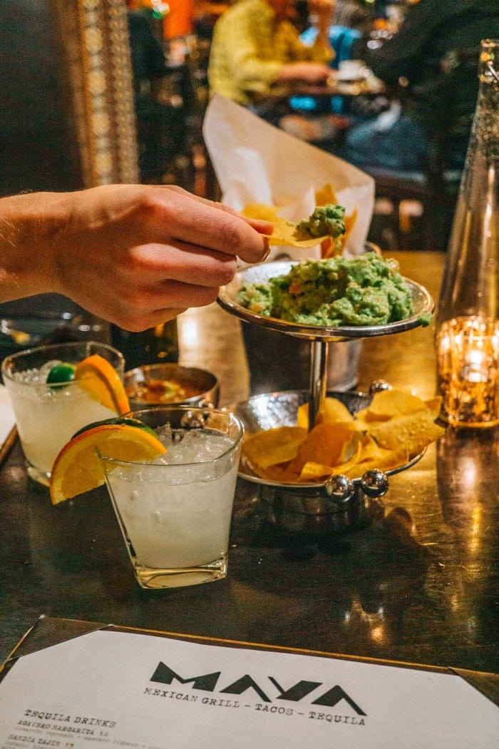 Margs and tableside guac at Maya Mordern Mexican Restaurant Westin Beaver Creek