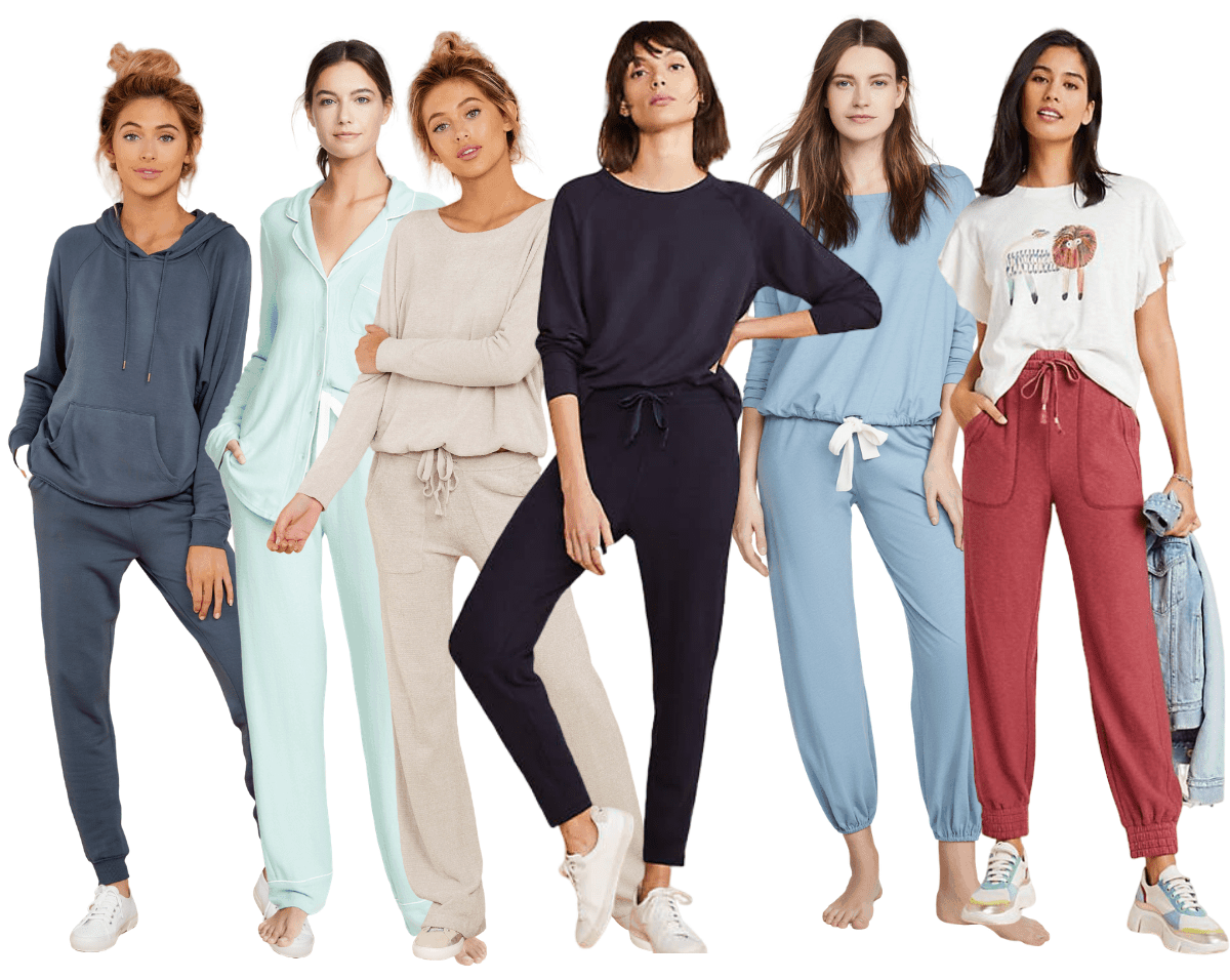 6 cozy loung wear and pjs