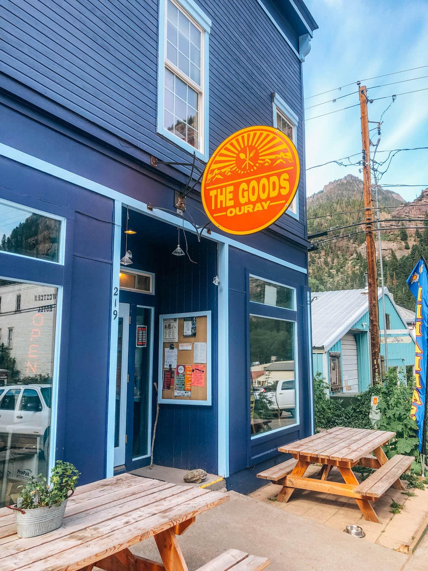 The Goods restaurant coffee shop Ouray Colorado