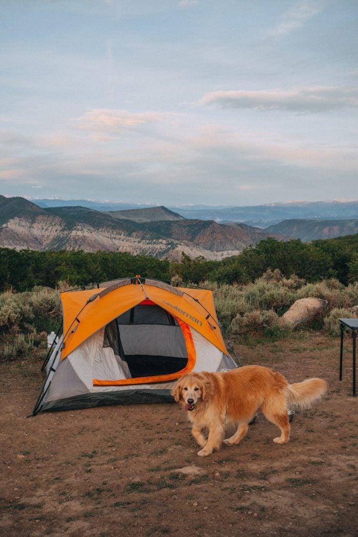 Camping on Coffee Pot Springs Road, Colorado
