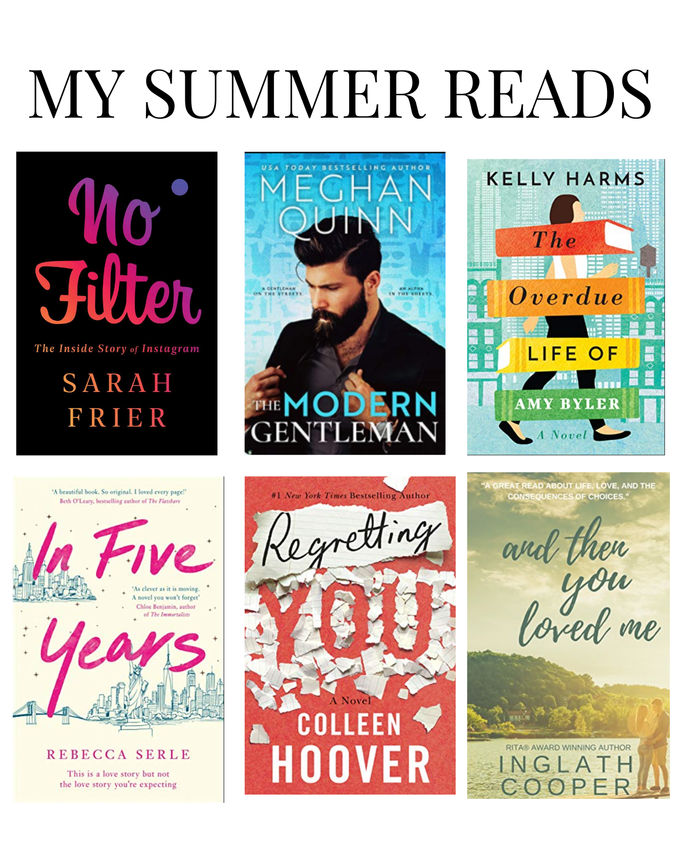 Collage of Summer Reads for 2020