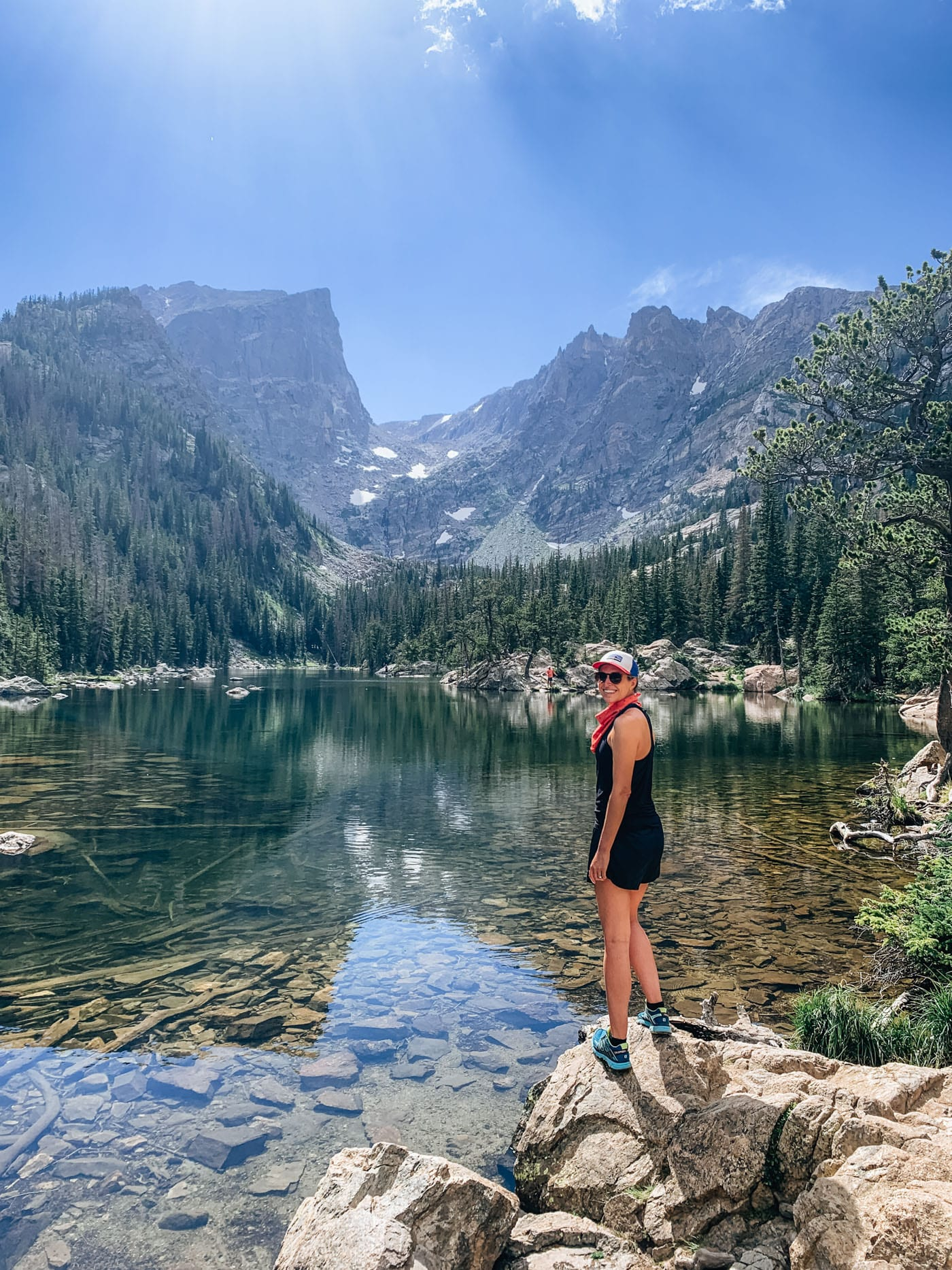 Blue Mountain Belle at Dream Lake in RMNP