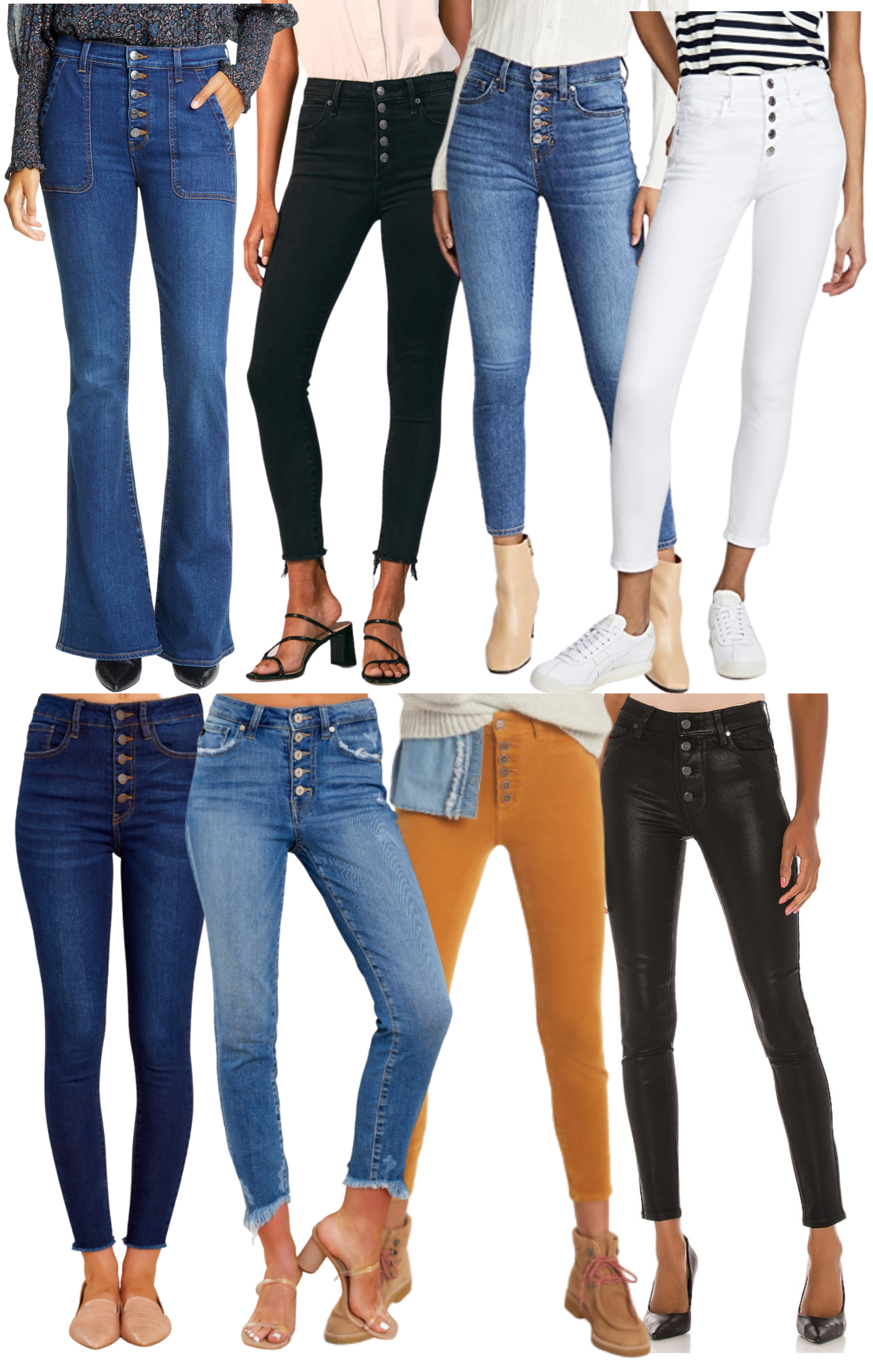 Fall Style: Exposed Button Jeans