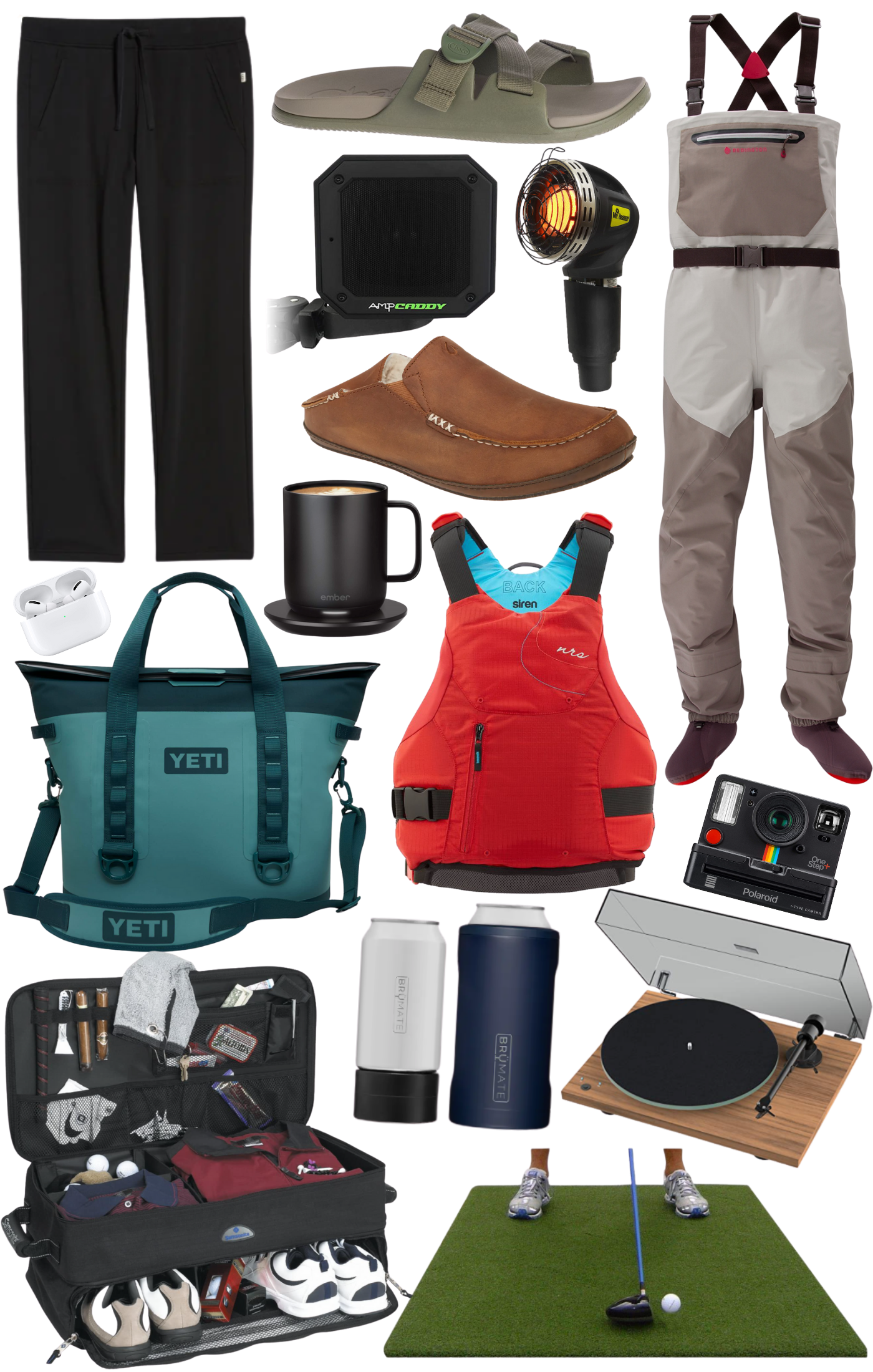 Collage of gift ideas for him